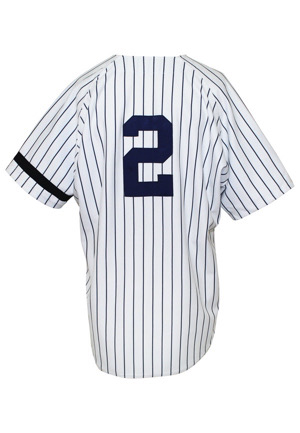 1996 Derek Jeter New York Yankees Rookie Game-Used Home Jersey (MEARS A10 • Likely Worn On 97 Pinnacle Card)