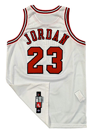1997-98 Michael Jordan Chicago Bulls Game-Used Home Jersey (Photo-Matched • Bulls LOA • MeiGray LOA • Championship & MVP Season)