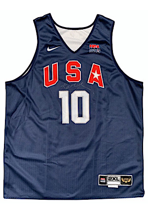 2008 Kobe Bryant USA Olympic Player-Worn & Autographed Practice Jersey (Photo-Matched • LOA From Kobes Personal Bodyguard With Press Pass & Game Tickets)