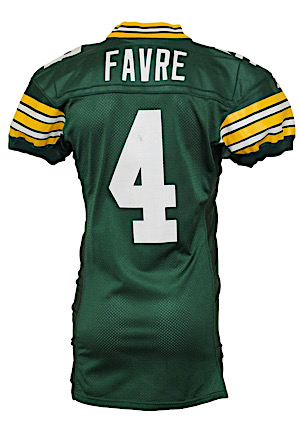 1994 Brett Favre Green Bay Packers Game-Used Home Jersey