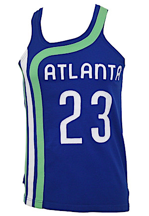 "Early 1970s ""Sweet Lou"" Lou Hudson Atlanta Hawks Game-Used Jersey (Exceedingly Rare Style)"