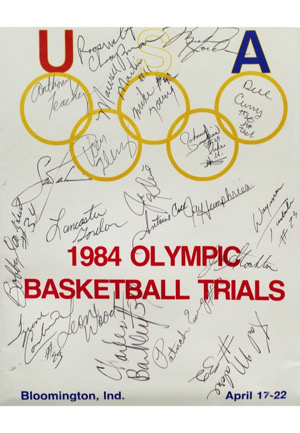 1984 Olympic Basketball Team-Signed Program With Pre-Rookie Jordan (Sourced From Teammate • Full JSA)