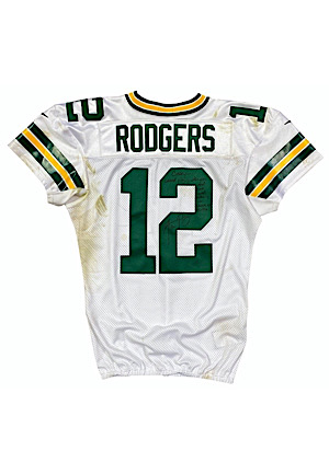 11/3/2019 Aaron Rodgers Green Bay Packers Game-Used & Autographed Jersey (Photo-Matched • Unwashed Jersey-Swap)