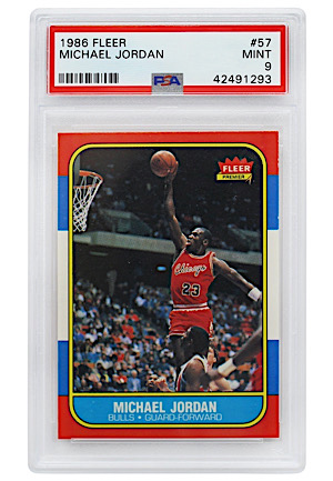 1986 Fleer Michael Jordan #57 (PSA MINT 9)