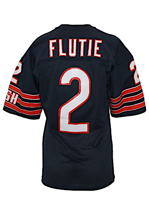 Circa 1986 Doug Flutie Chicago Bears Rookie Era Game-Used Home Jersey