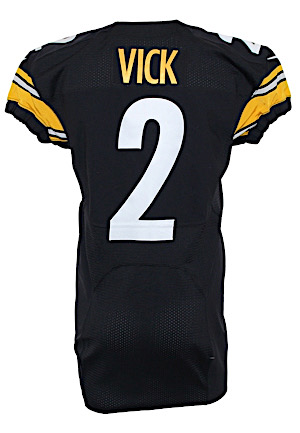 2015 Michael Vick Pittsburgh Steelers Game-Used Home Jersey (Steelers COA)