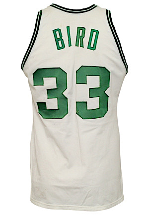 1985-86 Larry Bird Boston Celtics Game-Used Home Knit Jersey (Sourced From Celtics Ball Boy In 89 • MEARS A10 • Championship & MVP Season)