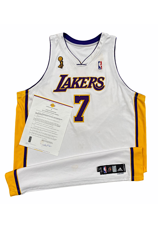 Lot Detail - 2009 Lamar Odom Los Angles Lakers NBA Playoffs Game ...
